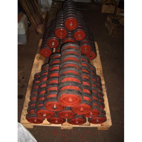 Ролик конвейерный амортизирующий обрезиненный ролики транспортерные