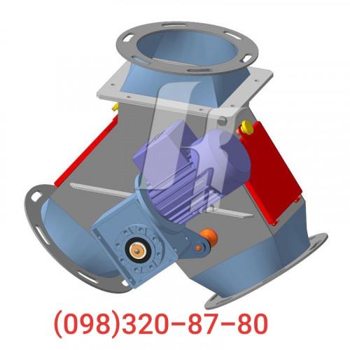 Клапан перекидной двухсторонний КДР-3 элеваторного самотека нория