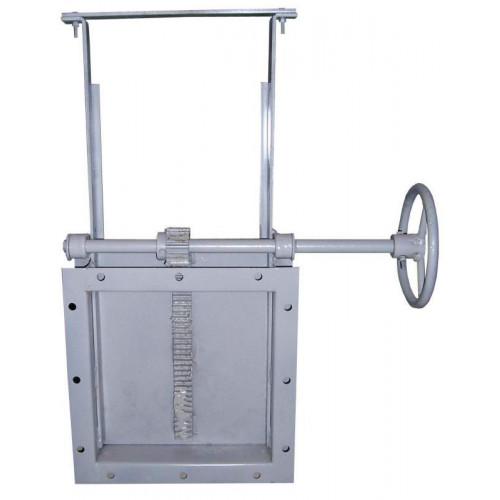 Задвижка реечная 300х300 ручная самотечное оборудование