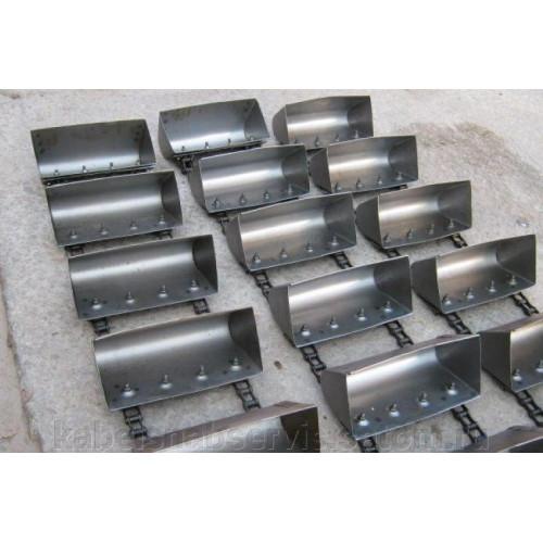 Ковш норийный для нории НЦК-5 металлический пластмассовый